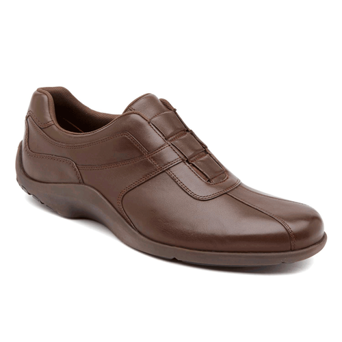 Downtown Loft Slip On Men's Dress Casual Shoes in Brown