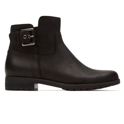 Tristina Buckle Bootie in Black