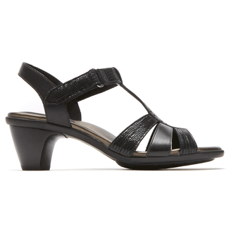 Medici Mary T-Strap Sandal in Black