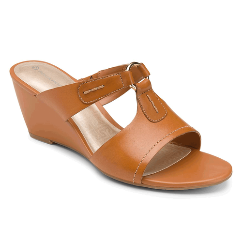 Nicoleen O Ring Slide Women's Sandals in Tan