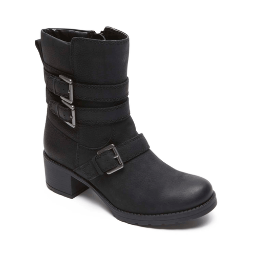 City Casuals Rola Buckle Bootie in Black