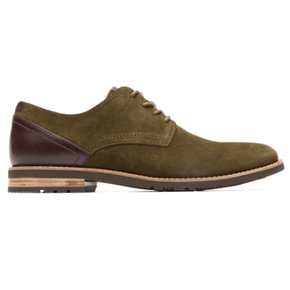 Ledge Hill 2 Plain Toe Blucher in Green