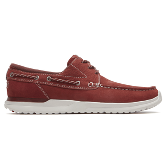 Langdon 3-Eye Oxford Comfortable Men's Shoes in Red