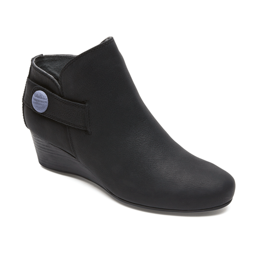 Total Motion Wedge Stone Bootie in Black