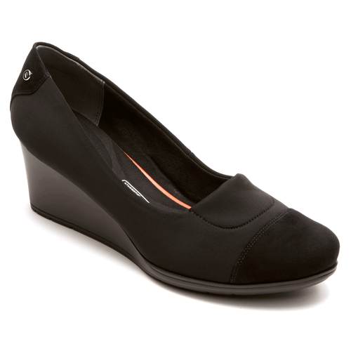 Total Motion Cap Toe WedgeTotal Motion Cap Toe Wedge - Women's Black Wedges