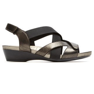 Standon X-Strap Sandal Extended Size Women's Shoes in Grey
