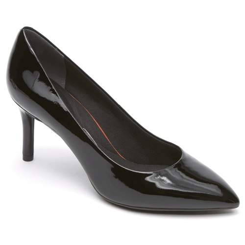 Total Motion Pointed Toe Pump - Women's Black Patent Heels