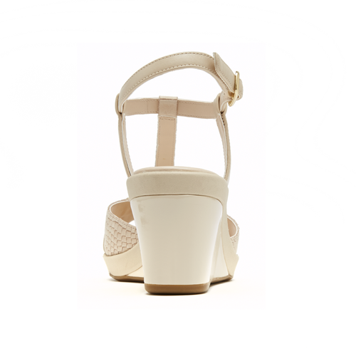 Emmalina Charm T-Strap Women's Sandals in White