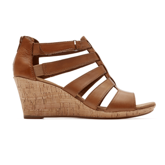 Briah Gladiator Sandal, DK TAN LEATHER