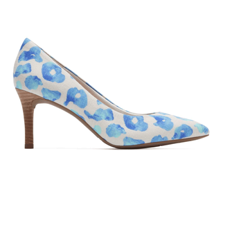 Total Motion Pointed Toe PumpRockport Women's Blue Leopard Total Motion Pointed Toe Pump