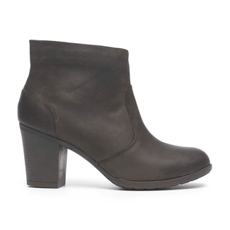 City Casuals Catriona Zip Bootie in Brown