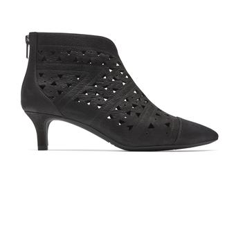 Total Motion Kalila Perf Shootie, BLACK NUBUCK