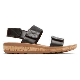 Weekend Casuals Keona 2 Band Sandal in Black
