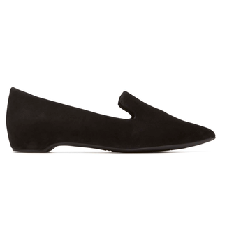 Total Motion Hidden Wedge Smoking Loafer, BLACK KID SUEDE