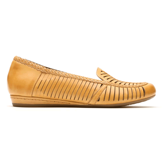 Cobb Hill Galway Woven Loafer Comfortable Women's Shoes in Yellow