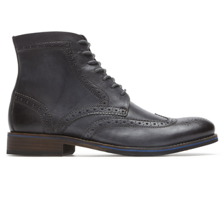 Wyat Wing Tip Boot, DK SHADOW LE