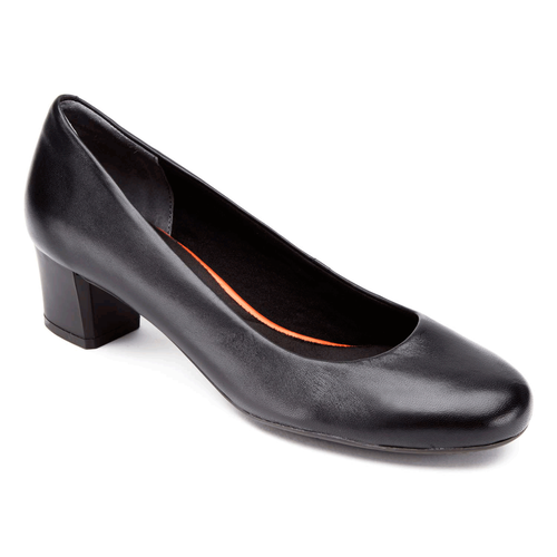 Total Motion Low Plain Pump Women's Heels in Black