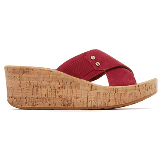 Weekend Casuals Lanea Cross Slide in Red