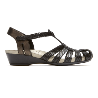 Standon Fisherman Sandal Extended Size Women's Shoes in Black