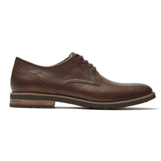 Ledge Hill 2 Plain Toe Oxford, DK BROWN