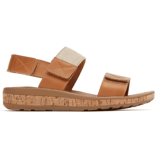 Weekend Casuals Keona 2 Band SandalRockport Women's Tan Weekend Casuals Keona 2 Band Sandal