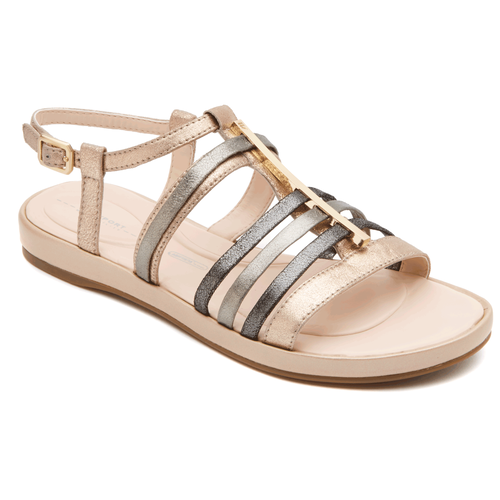 Jaeliah Strappy Sandal Women's Sandals in Grey