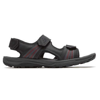 Trail Technique 3 Strap Sandal Comfortable Men's Shoes in Black