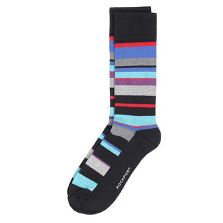 Striped Crew Socks in Navy