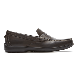 Total Motion Penny Loafer Comfortable Men's Shoes in Brown