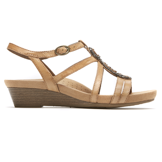 Cobb Hill Hannah T-Strap Sandal in Yellow