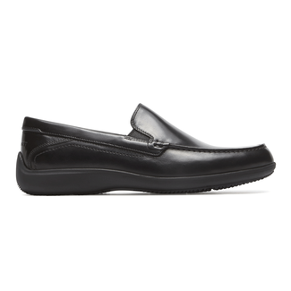 Aiden Venetian Loafer Comfortable Men's Shoes in Black