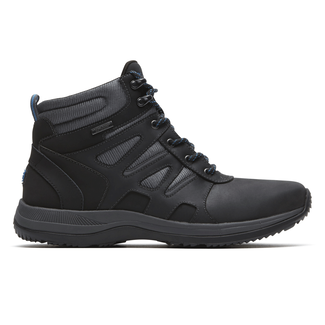 XCS Urban Gear Waterproof Plain Toe Boot, BLACK