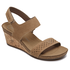 Total Motion Taja Perf Quarter Strap Sandal in Grey