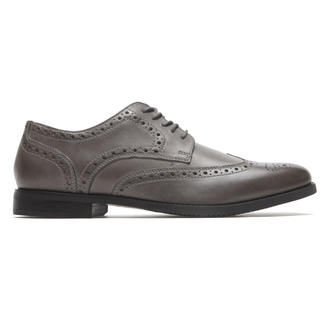 Style Purpose Wingtip Comfortable Men's Shoes in Grey