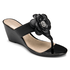 Nicoleen Jewel Flower Women's Sandals in Black