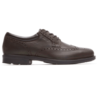 Essential Details Waterproof Wingtip in Brown