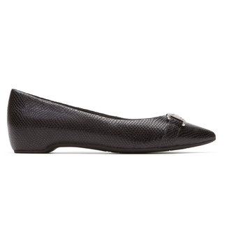 Total Motion Hidden Wedge Buckle Flat in Black