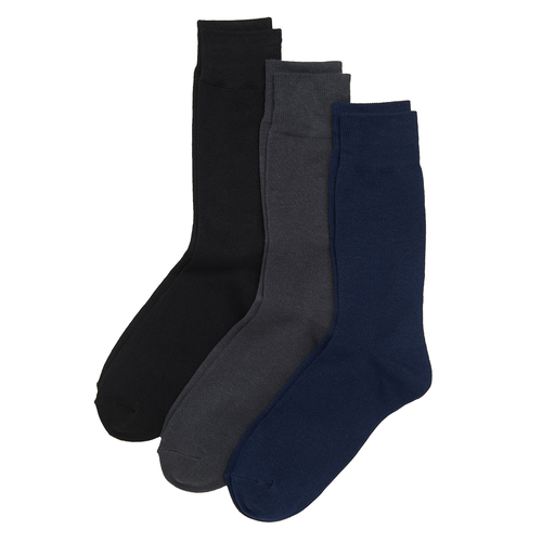 Men's Basic Cotton Socks in Grey