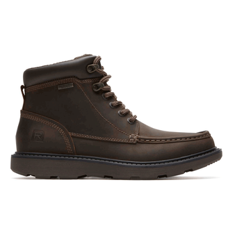 Boat Builders Waterproof Moc Toe Boot in Brown
