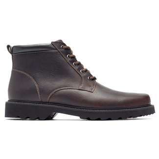 Northfield Plain Toe Boot in Brown