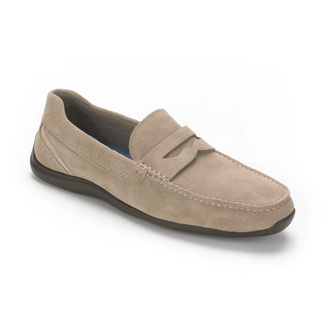 DriveSports Penny Men's Slip On Shoes in Grey