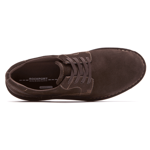 Urban Ease Plain Toe - Men's Dark Brown Oxfords