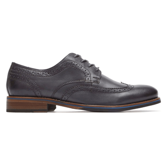 Wyat Wing Tip Oxford, DK SHADOW LE