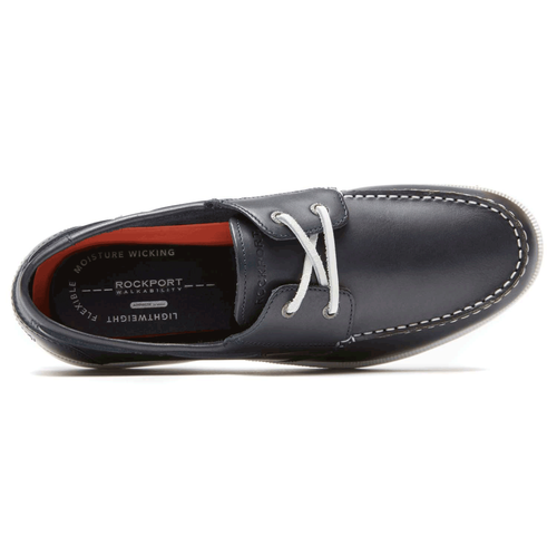 Summer Sea 2-Eye Boat Shoe in Navy