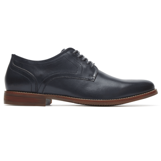 Style Purpose Plain Toe Comfortable Men's Shoes in Navy