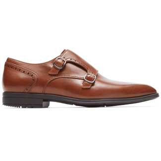 Fairwood Plaintoe Monk Strap in Brown