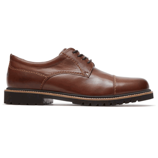 Marshall Captoe Oxford Comfortable Men's Shoes in Brown