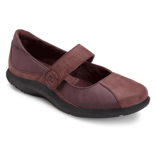 World Tour Logo Mary Jane Women's Shoes in Brown
