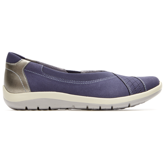 Webmly Envelope Extended Size Women's Shoes in Navy