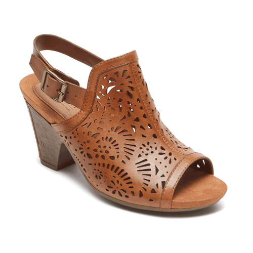 Cobb Hill Tropez High Vamp Comfortable Women's Shoes in Brown